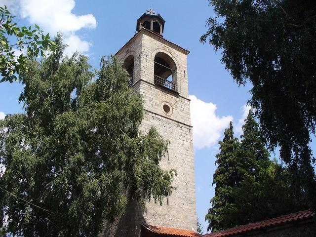 Bansko church tower, religion.