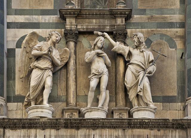 Baptism christ florence, religion.