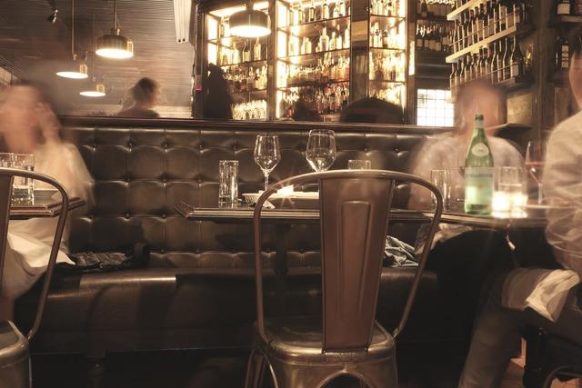 Bar lounge restaurant, food drink.