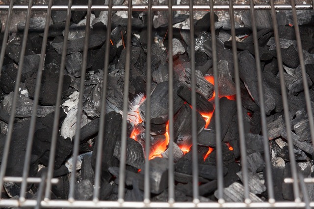 Barbecue charcoal glow.
