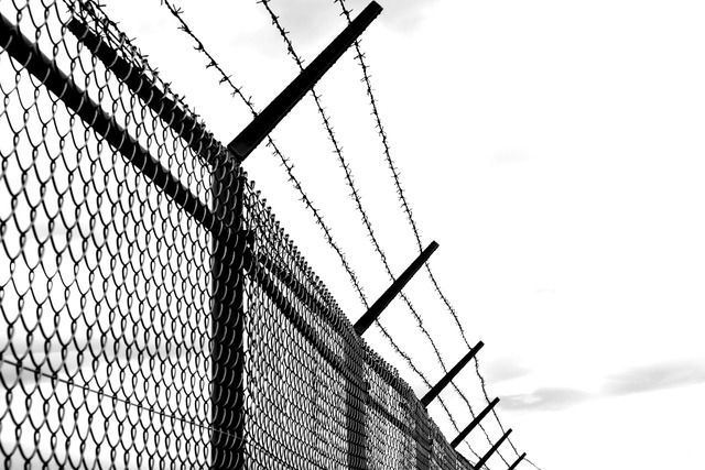 Barbed wire fence old.