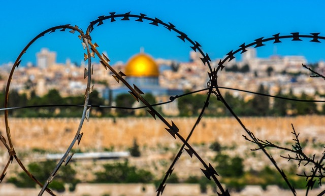 Barbed wire jerusalem holy land, religion.