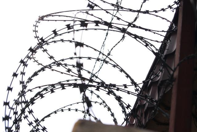 Barbed wire military wire prison.