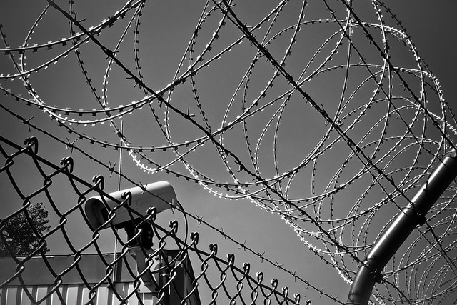 Barbed wire video camera monitoring.