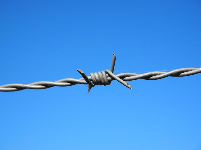 Barbed wire wire fenced.