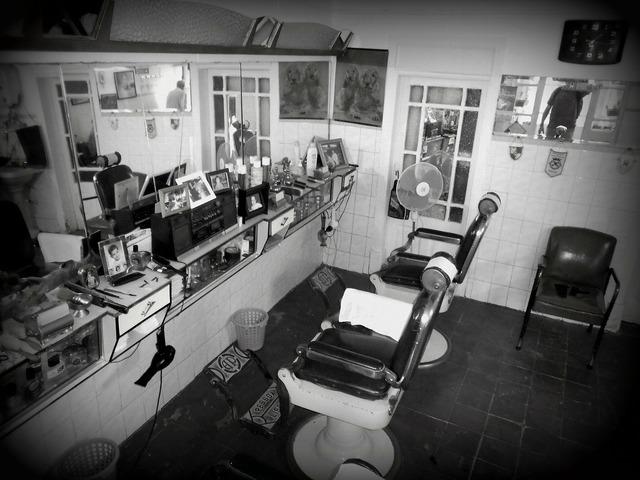 Barber invite hairdresser barbershop.