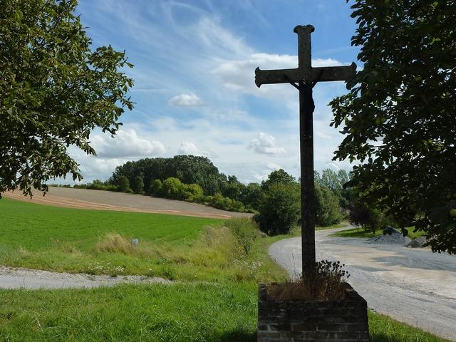 Barby ardennes wayside cross.