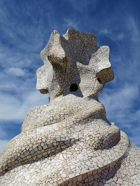 Barcelona gaudi spain, architecture buildings.