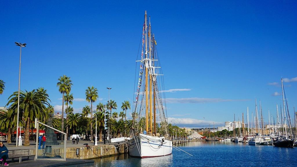 Barcelona harbour spain.