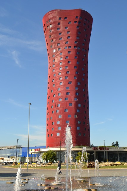 Barcelona hotel tower, architecture buildings.
