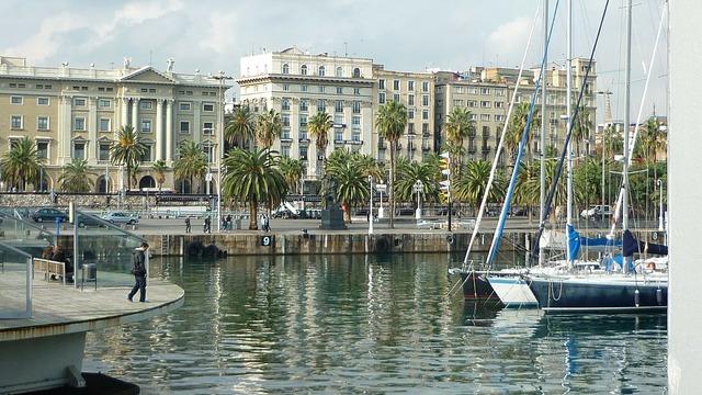 Barcelona port spain.