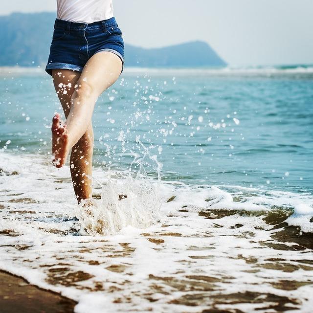 Bare beach break, travel vacation.