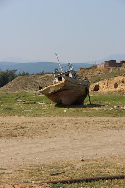 Barge baikal summer.