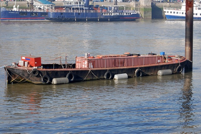 Barge storage container.