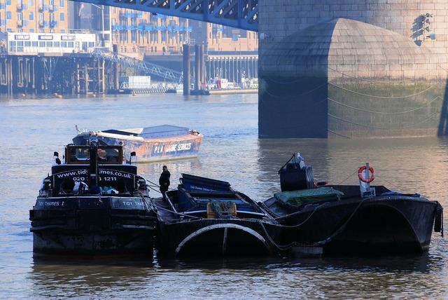 Barges river refuse service.