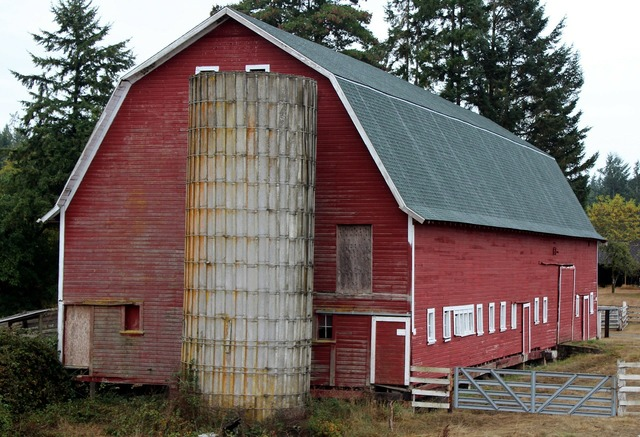 Barn red silo, architecture buildings.