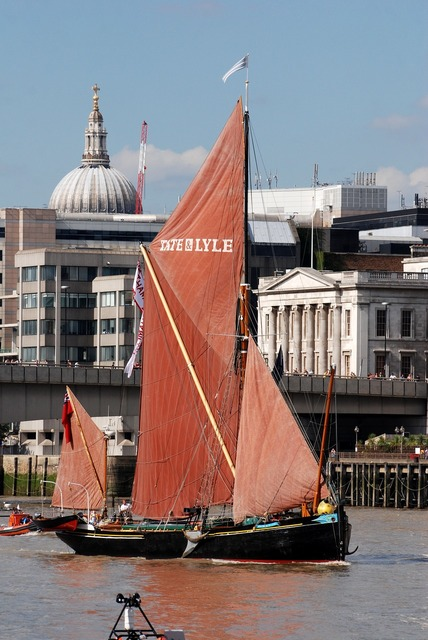 Barque sailing barge.
