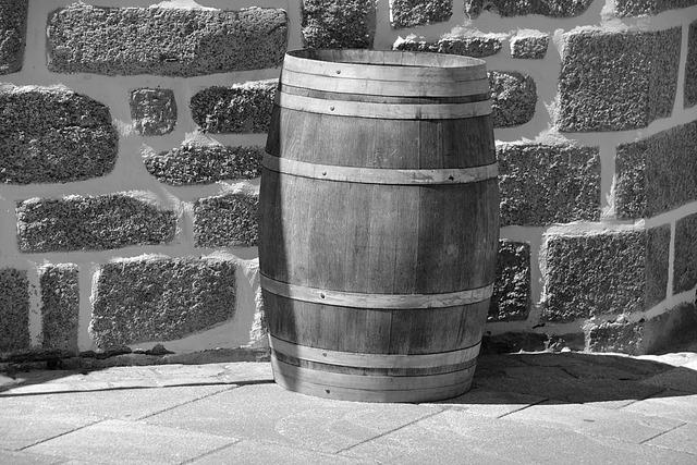 Barrel alcohol wine, food drink.