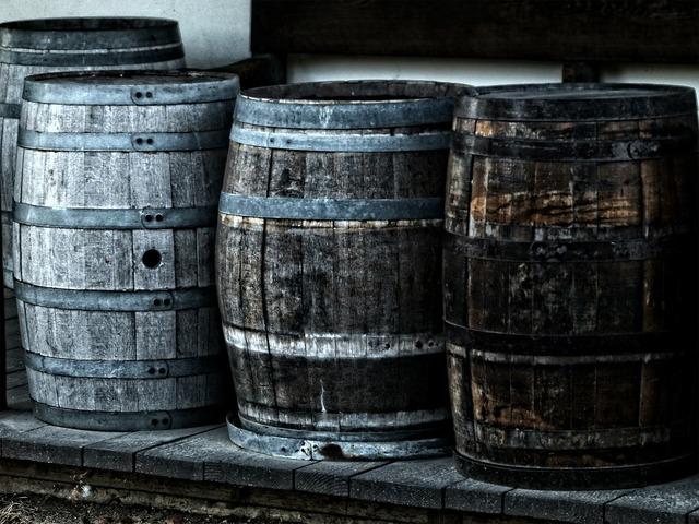 Barrel kegs wooden.