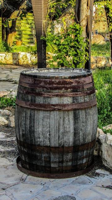 Barrel wooden old.