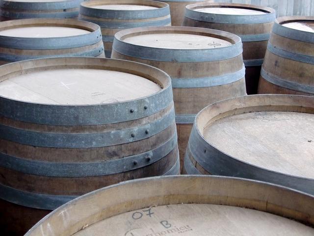 Barrels wine keller.