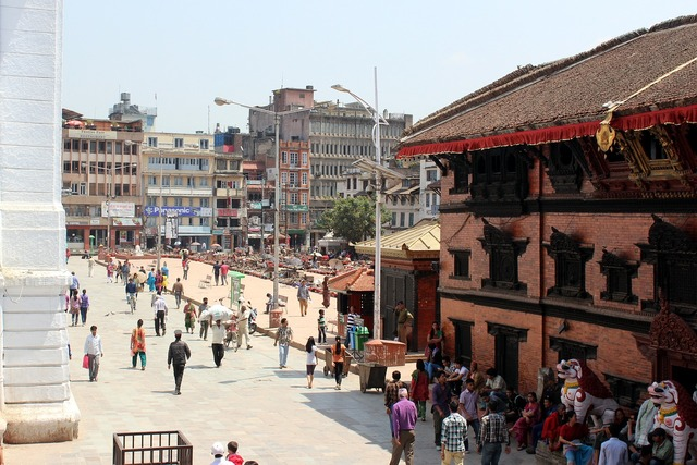 Basantarpur square kathmandu, people.