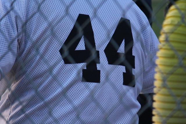 Baseball 44 number, sports.