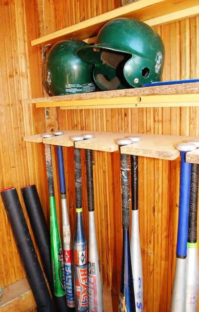 Baseball baseball bats helmet, sports.