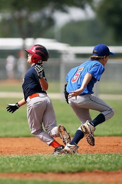 Baseball collision little league, sports.