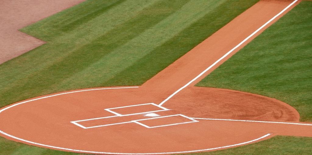 Baseball home plate grass, sports.