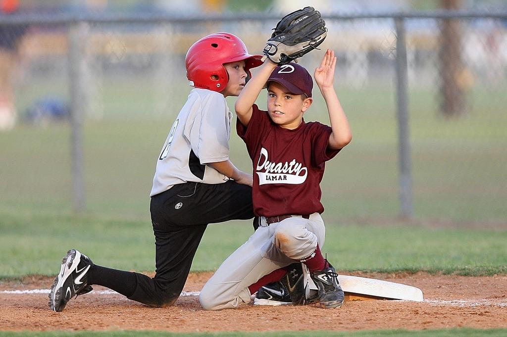 Baseball players action, sports.