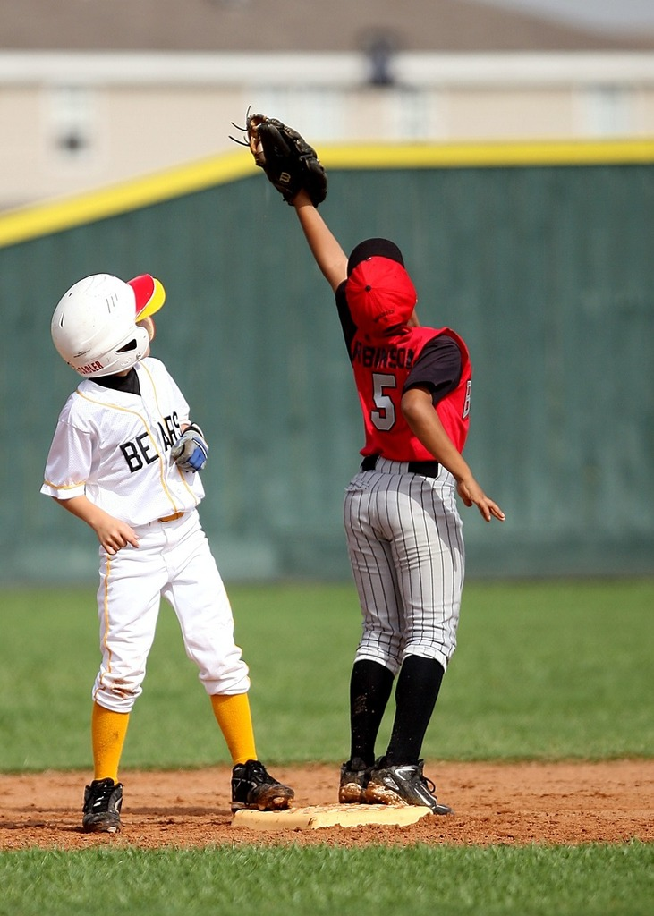 Baseball players infield, sports.