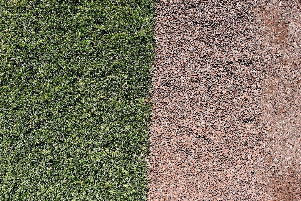 Baseball turf field, sports.