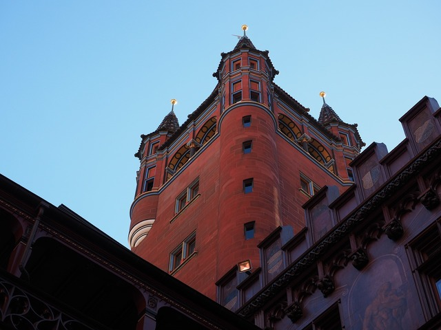 Basel city hall tower town hall tower, architecture buildings.