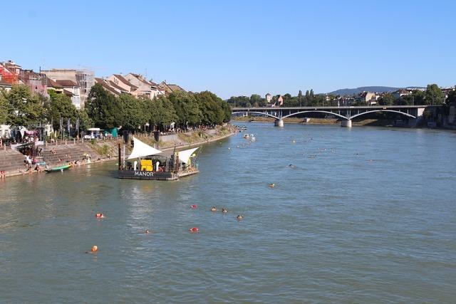 Basel rhine cityscape.
