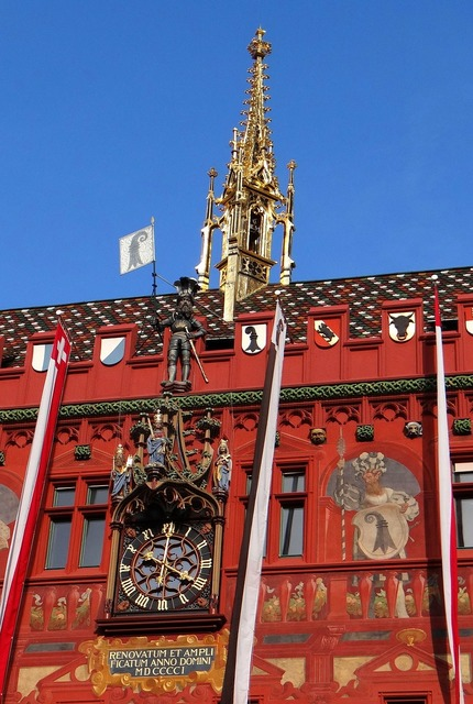 Basel switzerland town hall, architecture buildings.