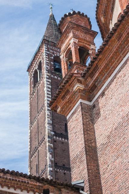 Basilica di sant'eustorgio milan tower, architecture buildings.