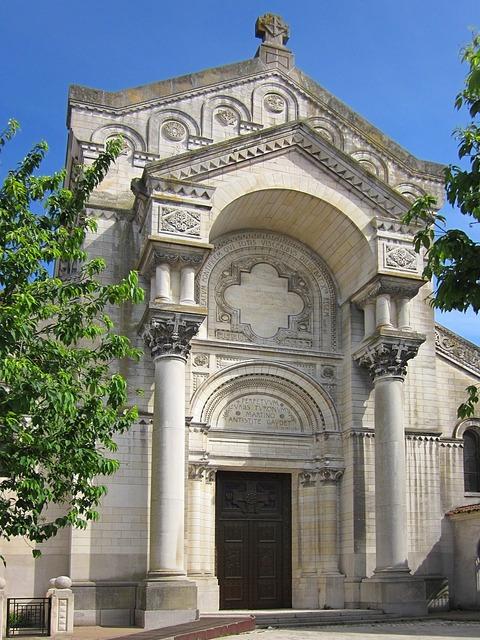 Basilica of st martin neo-byzantine entrance, religion.