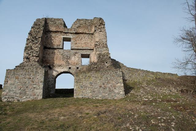 Basket case gateway desolate castle, nature landscapes.