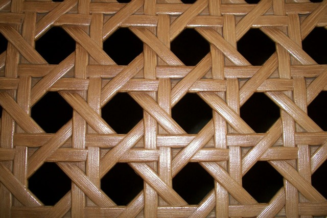 Basket weave willow osier, backgrounds textures.