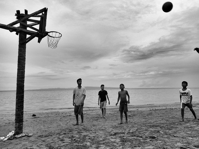 Basketball child beach, sports.
