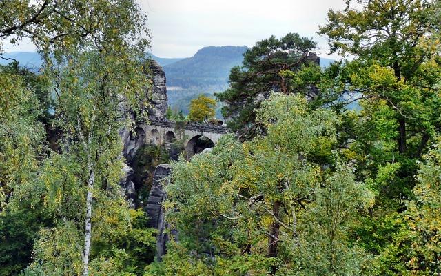 Bastei bridge saxon switzerland landscape, nature landscapes.