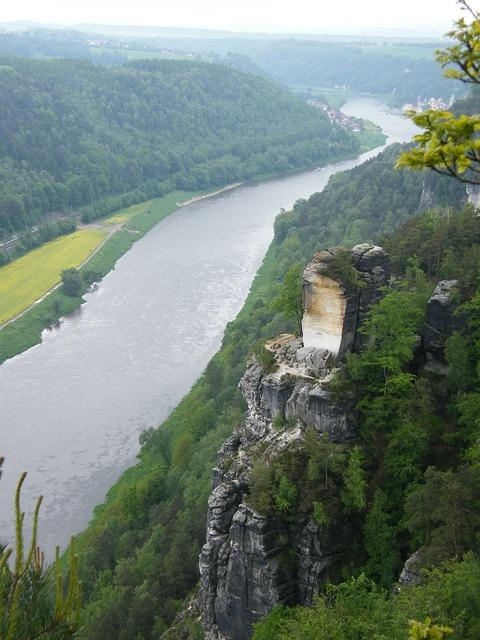 Bastei schrammsteine elbe sandstone mountains.