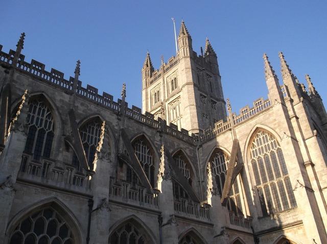 Bath abbey historical building, architecture buildings.
