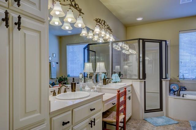 Bathroom interior design, architecture buildings.