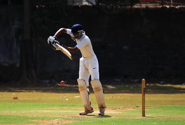 Batsman cricket defense.