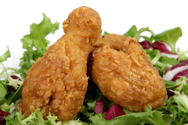 Batter breast chicken, food drink.