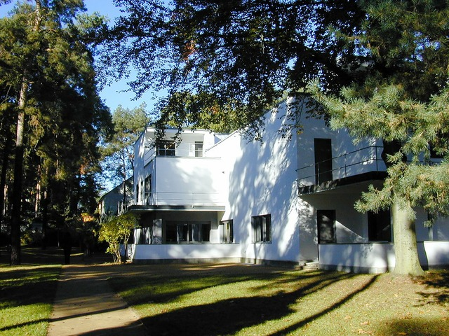 Bauhaus master house settlement house, architecture buildings.