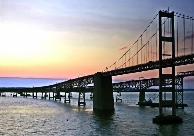 Bay bridge bridge ocean city, architecture buildings.