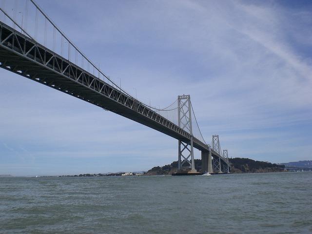 Bay bridge san francisco bay california.